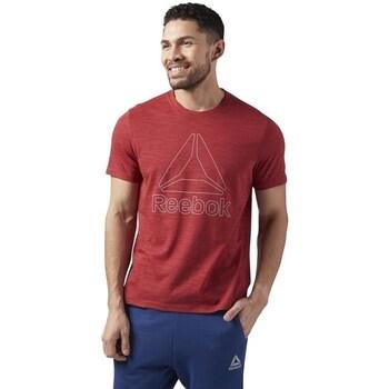 Clothing Men Short-sleeved t-shirts Reebok Sport Marble Melange Tee Burgundy