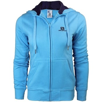 Clothing Women sweaters Salomon Logo Hoodie FZ W Blue