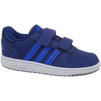 Shoes Children Low top trainers adidas Originals Hoops 20 Cmf I White,Blue,Navy blue