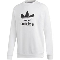Clothing Men Sweaters adidas Originals Trefoil Crew White