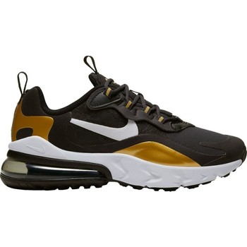 Shoes Children Low top trainers Nike Air Max 270 React GS Black,Golden