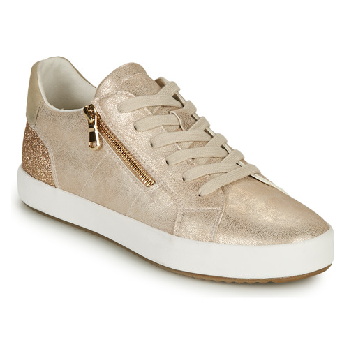 Shoes Women Low top trainers Geox BLOMIEE Gold