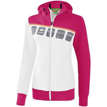 Clothing Children Track tops Erima Veste d'entrainement à capuche enfant blanc/bleu cliar