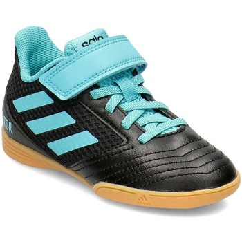 Shoes Children Low top trainers adidas Originals Predator Tango 194 HL IN Black, Light blue
