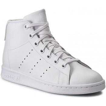 Shoes Children Hi top trainers adidas Originals Stan Smith Mid J White