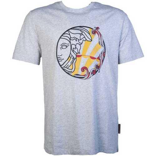 Clothing Men Short-sleeved t-shirts Versace V800683RVJ00626_v7653grey grey