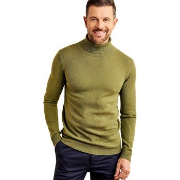 Clothing Men Jumpers Woolovers Cashmere and Merino Polo Neck Jumper Green