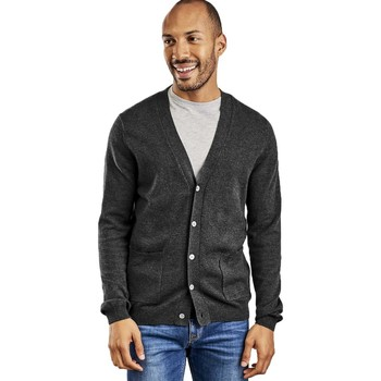 Clothing Men Jackets / Cardigans Woolovers Cashmere and Merino V Neck Cardigan Grey