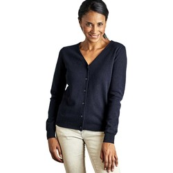 Clothing Women Jackets / Cardigans Woolovers Cashmere Merino Classic V Neck Cardigan Blue