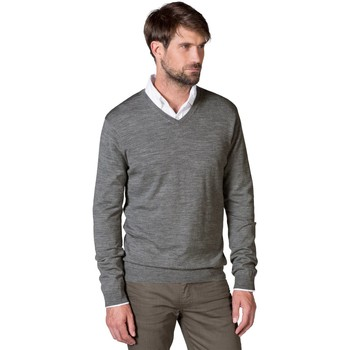Clothing Men Jumpers Woolovers New Merino V Neck Jumper Grey