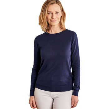 Clothing Women Jumpers Woolovers Cashmere and Cotton Crew Neck Jumper Blue
