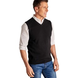 Clothing Men Jumpers Woolovers Cashmere and Merino Slipover Black