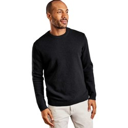 Clothing Men jumpers Woolovers Lambswool Crew Neck Jumper Black