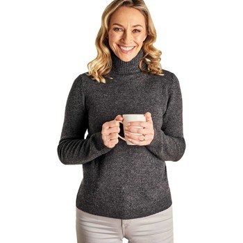 Clothing Women Jumpers Woolovers Lambswool Polo Jumper Grey