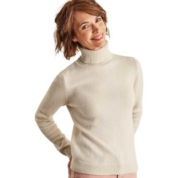 Clothing Women Jumpers Woolovers Lambswool Polo Jumper BEIGE