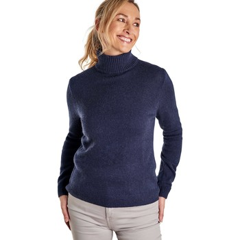 Clothing Women Jumpers Woolovers Lambswool Polo Jumper Blue