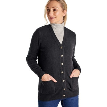 Clothing Women Jackets / Cardigans Woolovers Lambswool V Neck Cardigan Black
