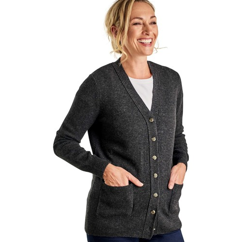 Clothing Women Jackets / Cardigans Woolovers Lambswool V Neck Cardigan Grey