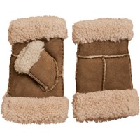 Clothes accessories Women Gloves Woolovers Fingerless Sheepskin Mitten Brown