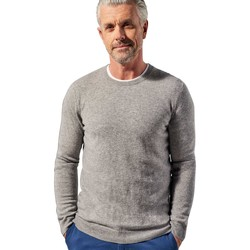 Clothing Men Jumpers Woolovers Pure Cashmere Crew Neck Jumper Grey