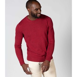 Clothing Men Jumpers Woolovers 100% Cotton Crew Neck Jumper Red