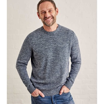 Clothing Men Jumpers Woolovers 100% Cotton Crew Neck Jumper Blue