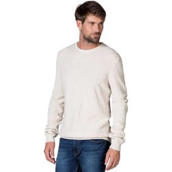 Clothing Men Jumpers Woolovers 100% Cotton Texture Crew Neck Jumper Grey