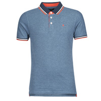 Clothing Men short-sleeved polo shirts Jack & Jones JJEPAULOS Blue