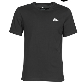 Clothing Men Short-sleeved t-shirts Nike M NSW CLUB TEE Black / White