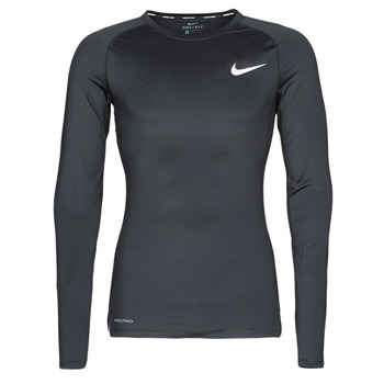 Clothing Men Long sleeved tee-shirts Nike M NP TOP LS TIGHT Black / White