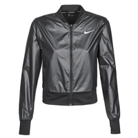 Clothing Women Macs Nike W NK JKT SWSH RUN Black / Silver
