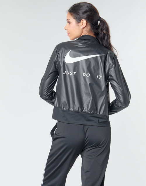 Nike W NK JKT SWSH RUN Black / Silver - Free delivery  ! - Clothing Macs Women   57.59