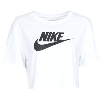 Clothing Women Short-sleeved t-shirts Nike W NSW TEE ESSNTL CRP ICN FTR White / Black