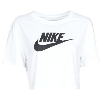 Clothing Women Short-sleeved t-shirts Nike W NSW TEE ESSNTL CRP ICN FTR White / Black