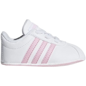 Shoes Children Low top trainers adidas Originals VL Court 20 Crib White