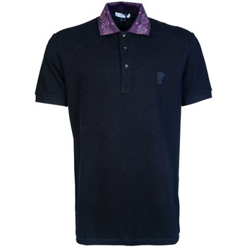 Clothing Men Short-sleeved polo shirts Versace Jeans Couture V800543ZVJ00068_v1008black black