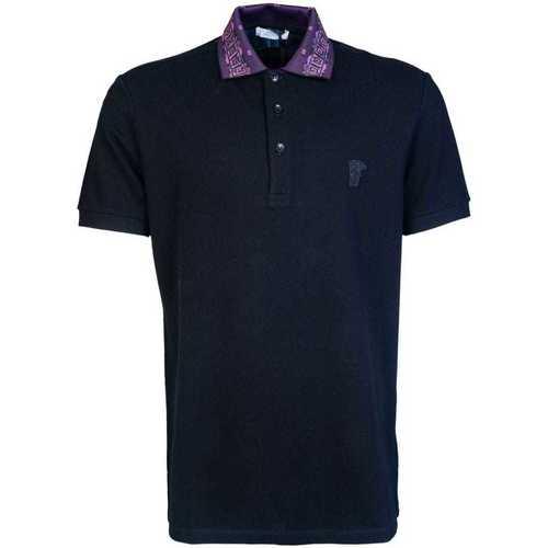 Clothing Men Short-sleeved polo shirts Versace Jeans Couture V800543ZVJ00068_v1008black black
