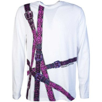Clothing Men Long sleeved tee-shirts Versace Jeans Couture V800491RVJ00615_v7001white white