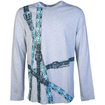 Clothing Men Long sleeved tee-shirts Versace V800491RVJ00615_v7653grey grey