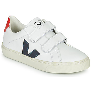 Shoes Children Low top trainers Veja SMALL-ESPLAR-VELCRO White / Blue / Red