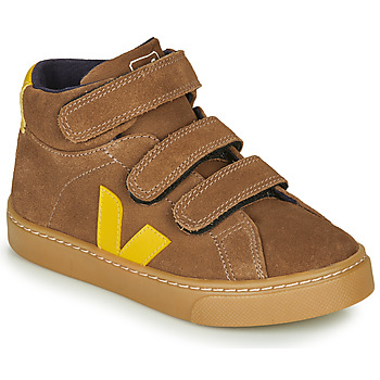Shoes Children Hi top trainers Veja SMALL-ESPLAR-MID Brown / Yellow