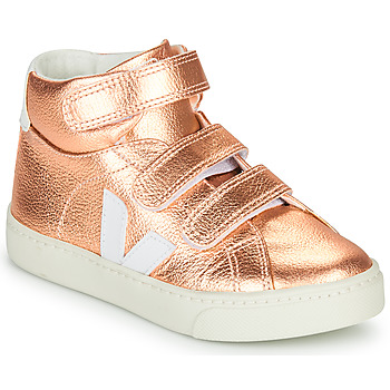 Shoes Girl Hi top trainers Veja SMALL-ESPLAR-MID Pink