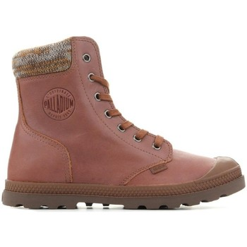 Shoes Women Mid boots Palladium Pampa Knit LP F Brown