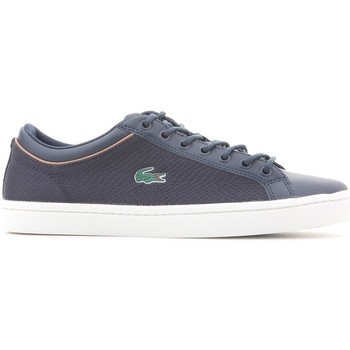 Shoes Men Low top trainers Lacoste Straightset Sport 118 3 Navy blue