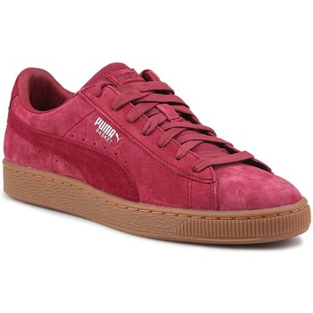 Shoes Men Low top trainers Puma Basket Classic Weatherproof Burgundy