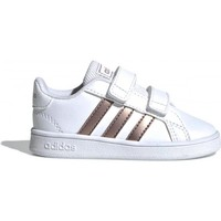 Shoes Girl Low top trainers adidas Originals Grand Court EF0116 White