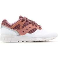 Shoes Men Low top trainers Saucony Grid Burgundy,White