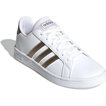 Shoes Children Low top trainers adidas Originals Grand Court White,Golden
