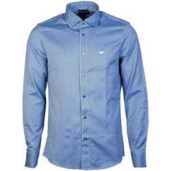 Clothing Men Long-sleeved shirts Armani 6G1CP51NISZ_0920navy blue