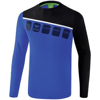 Clothing Men Tracksuits Erima Haut d'entrainement manches longues  5-C bleu marine/noir/blanc